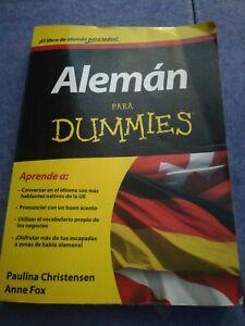 Detalles De Alemán Para Dummies Paulina Christensen Anne Fox 374 Pp
