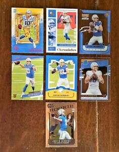 2020 JUSTIN HERBERT Chronicles Lot (7) - RATED ROOKIE, EXCLUSIVE, SP Chargers RC