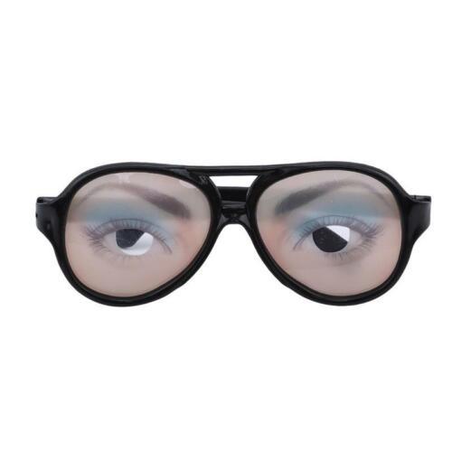 Fake Novelty Gag Prank Eye Ball Thicky Party Joke Toy Funny Glasses DD