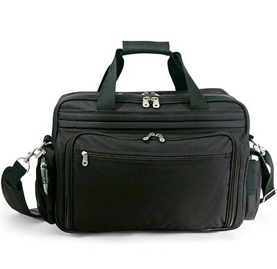 "CEO Black Light Carry-on Computer Briefcase Travel Messenger Bag Fits 16"" Laptop"