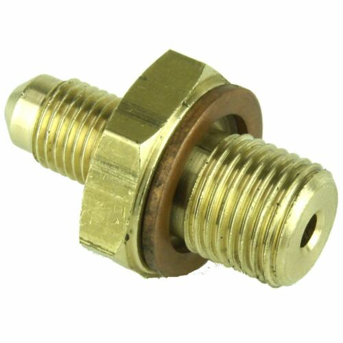 """Brass Brake Union 1//2/"""" UNF/"""" Male to 3//8/"""" UNF male With Copper Washer"""