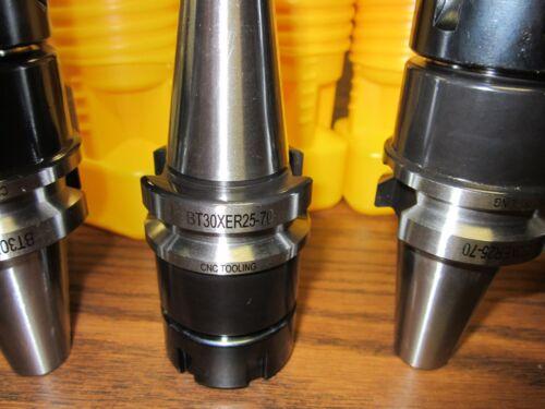 70mm GAGE LENGTH-$139.00 to buy 4 chucks-Tool Holder BT30-ER25 COLLET CHUCK W