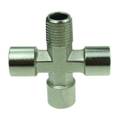 """3//8/""""  Female BSPP Nickel Plated Brass Pipe Fitting Female Cross Connector"""