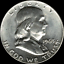 A-1963-D-Franklin-Half-Dollar-90-SILVER-US-Mint-034-About-Uncirculated-034 thumbnail 1