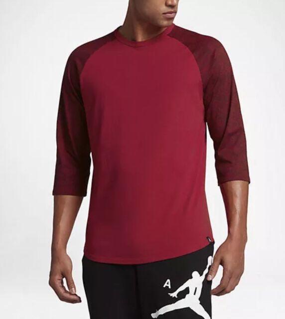b1124003f9cd Nike Air Jordan 23 True Red Elephant Print 3 4 Sleeve Raglan (834536 687