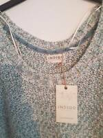 SIZE 16 MINT MIX INDIGO COLLECTION COTTON BLEND JUMPER MARKS AND SPENCER