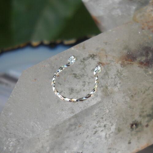 Fake Piercing -Yellow GF Fake Nose Ring Faux Septum Ring FAKE Septum Ring