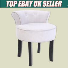 Grey Velvet Chair Dressing Table Vanity Stool Black Legs Bedroom Accent 4