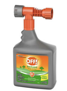 Off! Outdoor Backyard Bug Control- Spray Bottle Attachment ...