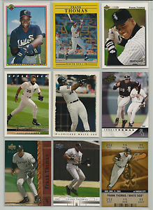 1990-2003-Frank-Thomas-Mixed-Lot-9-Different-Cards-Chicago-White-Sox