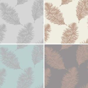 Image Is Loading Holden Fawning Feather Pattern Wallpaper Metallic Motif Bird