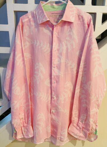 NICE MEN'S Lilly Pulitzer Wyeth Linen DRESS SHIRT