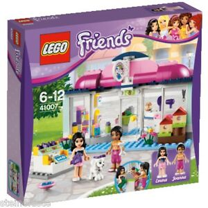 LEGO-Friends-Heartlake-Tiersalon-41007-Pet-Salon-Emma-Joanna-NEU-amp-OVP