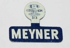 New Jersey Governor Meyner Hat Presidential Political Button Pin NOS New 60s