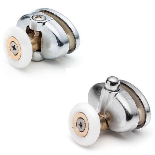 Set of 4 Single Shower Door Rollers//Runners //Wheels 25mm Top /& Bottom L077-1