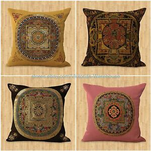 Throw Pillows Set Of 4 : set of 4 decorative pillow cover cushion cover Tibetan Buddhism mandala eBay
