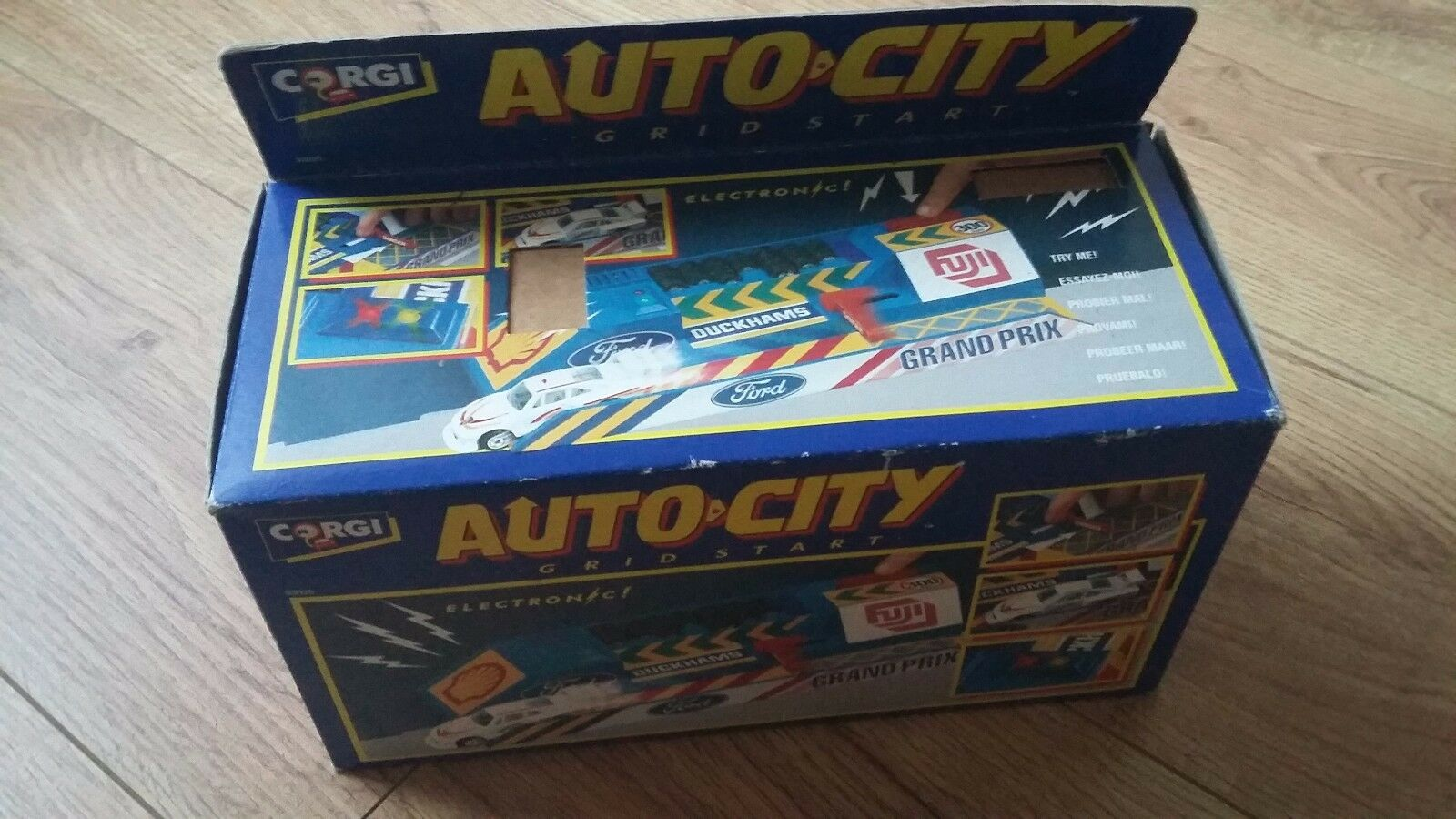 Corgi Auto City Grid Start Electronic starter Box Set 93025 1992 Vintage