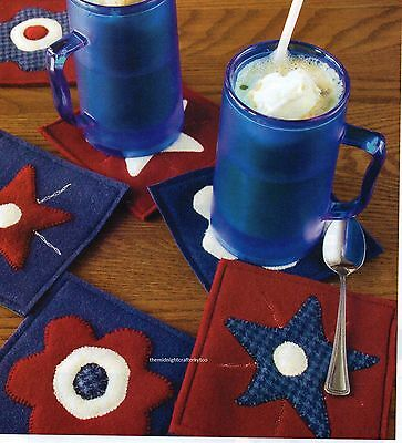 Patriotic Mug Rugs Quilt Pattern Pieced//Applique PS