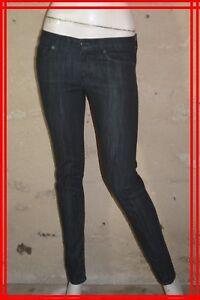 7-FOR-ALL-MANKIND-W-27-Taille-36-Superbe-pantalon-jeans-jean-denim-bleu-brut