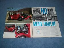 """1928 Ford Model A Roadster Hot Rod Pickup Vintage Article """"No More Haulin' """""""