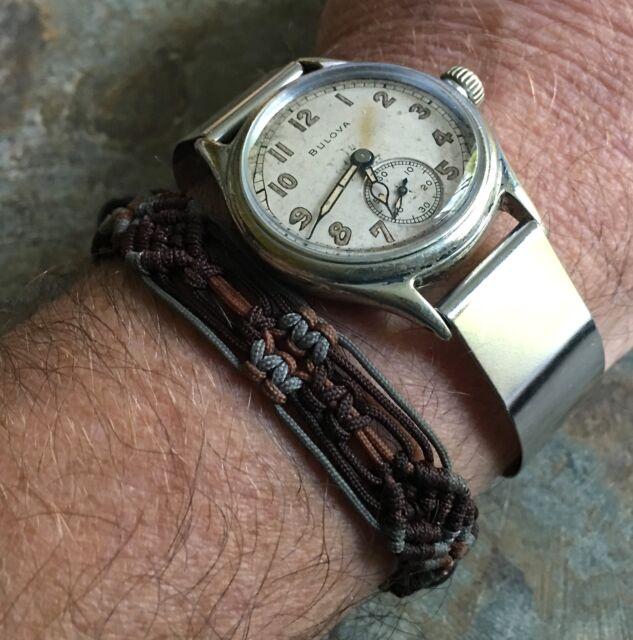 Genuine WW2 era soldier watch cuff bracelet 16mm to A-11 ORD A-17 military watch