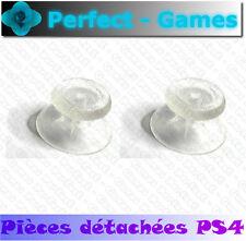 PLAYSTATION PS4 manette controller dualshock 2 sticks blanc transparent joystick