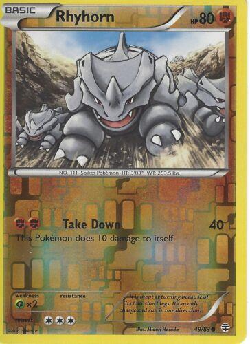 RHYHORN 49//83 REV HOLO POKEMON GENERATION PACK CARD