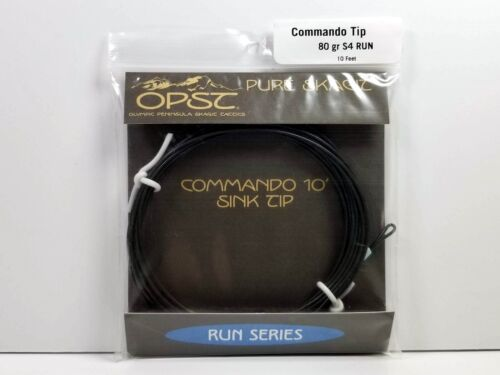 OPST Pure Skagit Commando Sink Tip 80 Grain S4 Run New 10 Foot