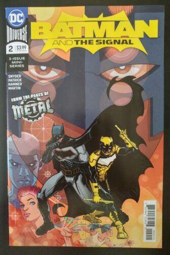 ~ VF//NM Book BATMAN and The SIGNAL #2 2018 DC UNIVERSE Comics of 3