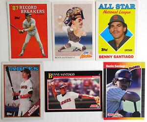 1988-91-Baseball-Cards-Benny-Santiago-Padres-Topps-Score-Donruss-Lot-6