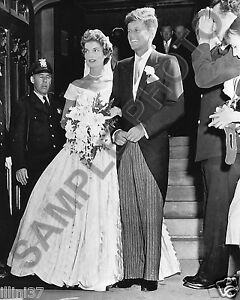 John jfk jackie kennedy wedding 8x10 photo ebay image is loading john jfk amp jackie kennedy wedding 8x10 photo junglespirit Gallery