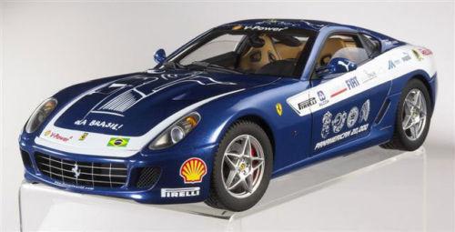 Ferrari 599 GTB Fiorano Panamerican 20.000 bleu scale 1 18 ELITE Hotwheels NEW