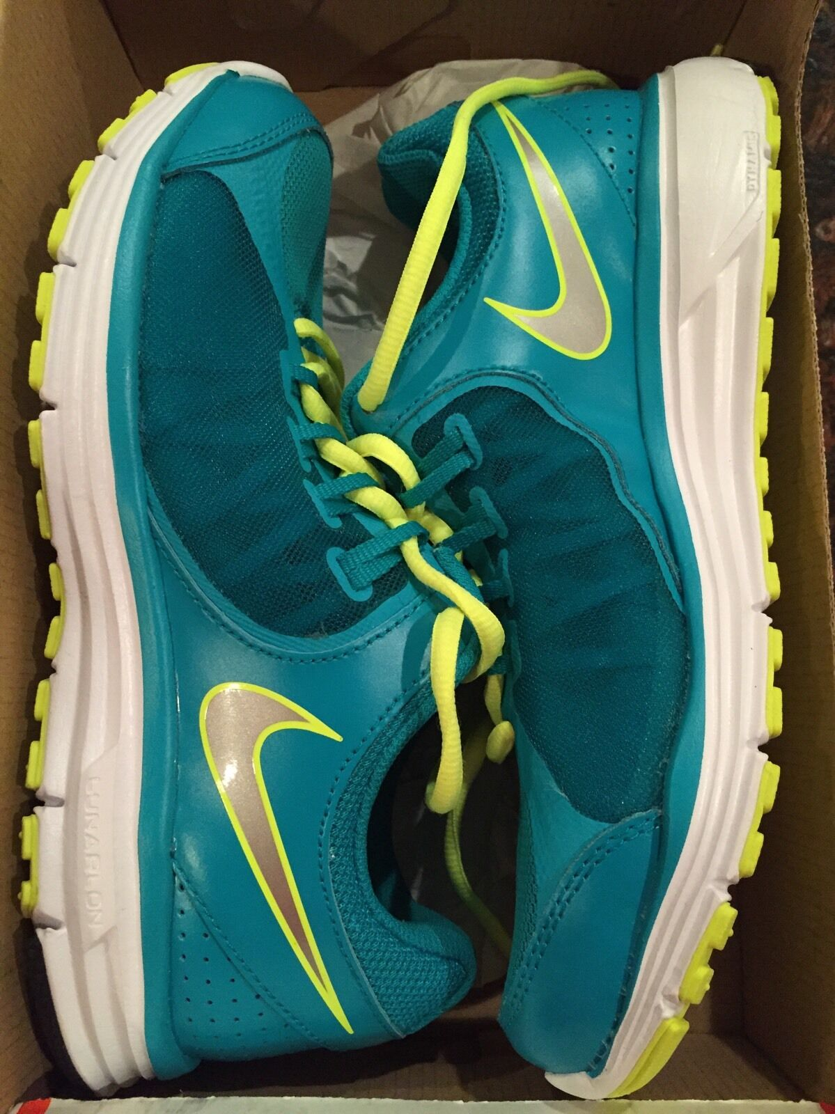 NEW Women's Nike Lunar Forever 3 Size 6.5 Running Shoes Sneakers 631426-300 Teal
