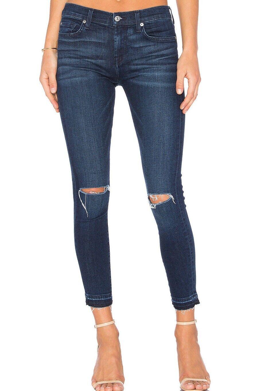 Nwt 7 für Alle Sz27 die Knöchel Skinny Hohe Größe Jeans Stretch