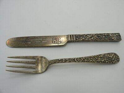 Repousse by Kirk Sterling Silver Pastry Server Fancy Vermeil HH Custom