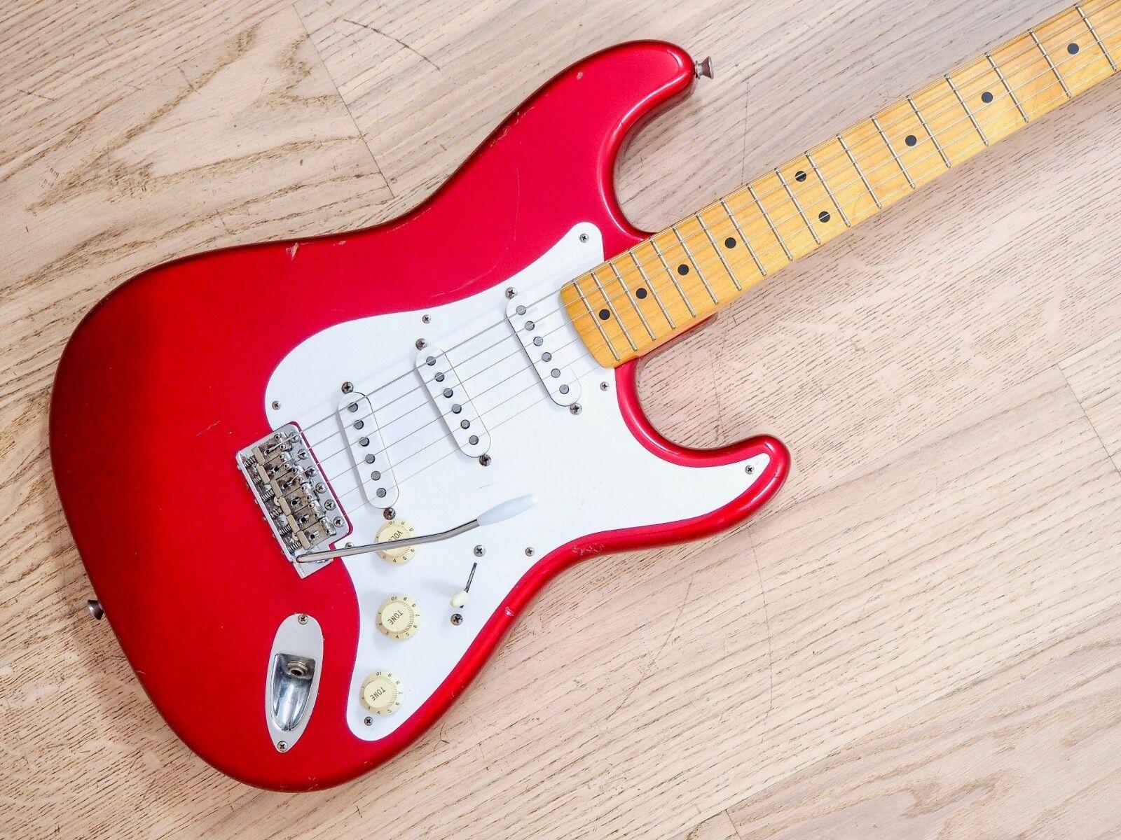 1999 Fender Stratocaster '57 Vintage Reissue ST57-70TX Candy Apple rot CIJ Japan