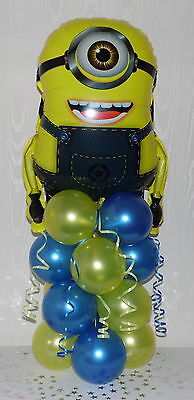 10x Despicable Me 2 Minions 18 inch Foil Mylar Party Balloons w// Curling Ribbon