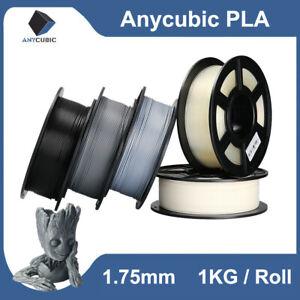 Anycubic 1Kg PLA Impresora 3D Filamento 1.75mm Negro gris blanco azul rojo EU