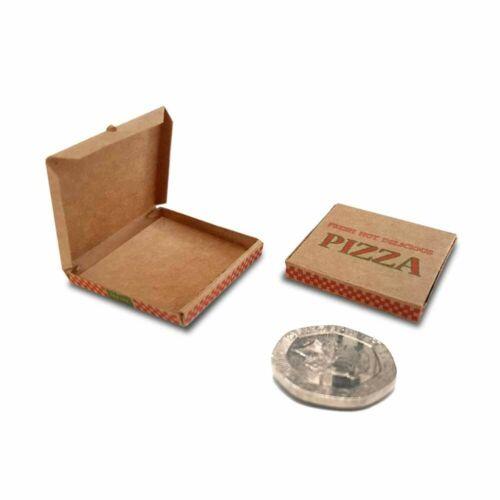 Casa De Muñecas en Miniatura de caja de la pizza 1:12 escala amorosamente Hecho a Mano por Galago