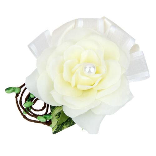 Weiß Hochzeit Gästeanstecker Hochzeitsanstecker Anstecknadel Corsage