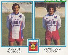 493 ALBERT VANUCCI - JEAN-LUC CUCCHI GFCO.AJACCIO STICKER FOOTBALL 1980 PANINI