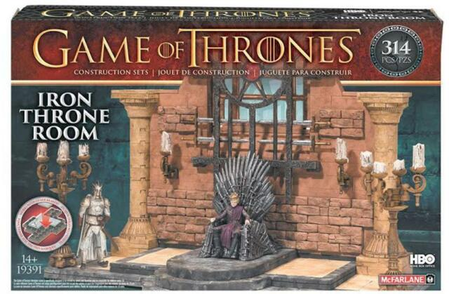 Mcfarlane Game Of Thrones Iron Throne Room Construction Set Sealed FREE SHIPPING