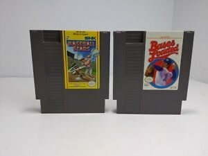 NES-Baseball-Stars-amp-Bases-Loaded-2-Game-Lot-Nintendo-Tested-Authentic
