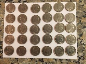 30 Ike dollars - all 1972 and 1972D:  uncirculated since 1978, clean & clear