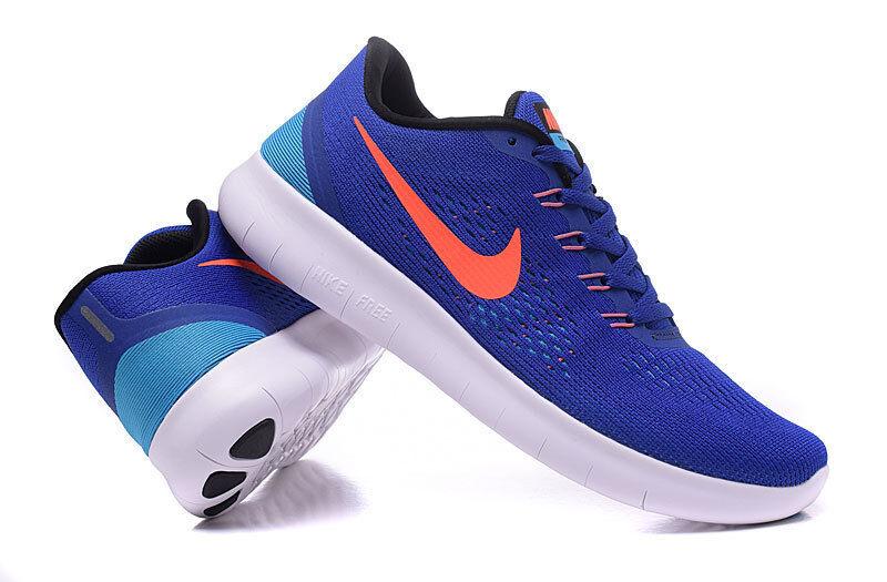 Nike homme Free RN - Bleu / Crimson: 31508 401