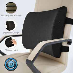 Details About New Memory Foam Lumbar Support Pillow Seat Cushion For Office Chair Car