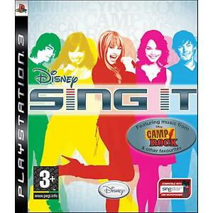 PS3-Disney-Sing-IT-Camp-Rock-Featuring-musical-Hannah-Montana-NUOVO