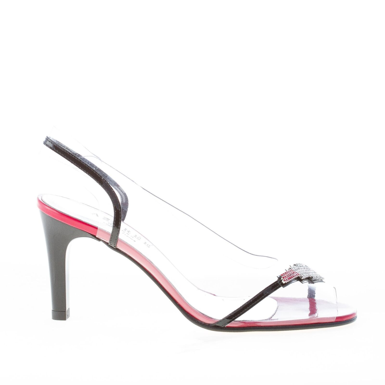 AZUREE CANNES damen schuhe shoes NETISH sandal Red silver strass mouth lipstick