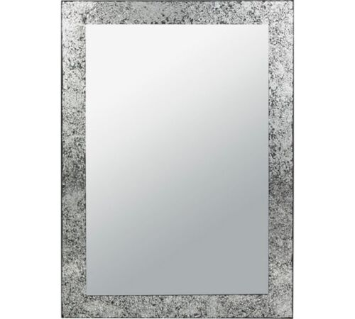 Silver Collection India Crackle Glass Wall Mirror