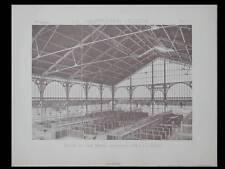 PARIS, MARCHE DE L'AVE MARIA - 1886 - PLANCHE ARCHITECTURE - AUGUSTE MAGNE